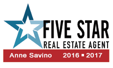 Anne Savino, Licensed Real Estate Agent, Five Star Profession Award for Customer Service
